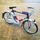 ブリキ自転車  ホワイトレッド系