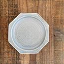 八角花皿 マットグレーS