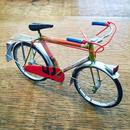 ブリキ自転車  レッドピンク系