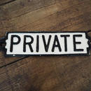 "ダルトン IRON SIGN  ""PRIVATE"""