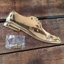 ダルトン トイレサイン 男性用 レザーシューズ ゴールド 真鍮