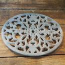 フォント オーバル 鋳物鍋敷き グレー