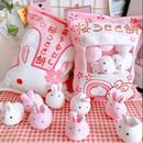 桜うさぎ餅お菓子袋型クッション