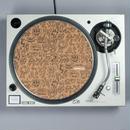 Turntable Lab  Record Mat【Cork Black Print】 / レコードマット (1枚組)【コルク ブラック プリント】