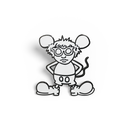 Andy Mouse Enamel Pin  (White)