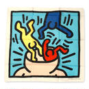 Keith Haring  Bandana  Blue