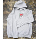 Nouno Keith Haring Icon Parka  <Gray / Holding Heart> KH-NN1719