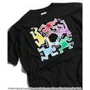 Keith Haring × NOUNO Big T-Shirt(Black/Hexagon) キース・ヘリング ビッグシルエットTシャツ
