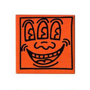 Keith Haring Rectangular Magnet (Three Eyed Face) Orange