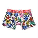 Clothmania x Keith Haring  メンズ ボクサーパンツ (Base Made UW KH011 White)
