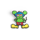 Andy Mouse Enamel Pin  (Green)