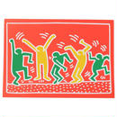 Keith Haring Holiday Notecard  キース・ヘリング クリスマス カード (Red Green Orange)