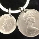 キーホルダー アンティークコイン  K006