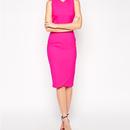 Bold Pink Pencil Dress (ホットピンクタイトワンピース)