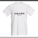 """Unisex Opposite """"PRADA"""" T-Shirt (ユニセックス反転ロゴ Tシャツ)"""