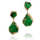 18K Green Jasper Gem Stone Erring (18金グリーン・ステイトメントピアス)