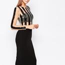 【SALE!!】¥43,900→¥28,900 Mode Sear Stripe Bodycon Dress(モード シアーストライプワンピ)