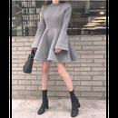 【2色】A-Line Sweat Dress (Aラインスウェットワンピ)