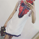 Spangle Ribbon Detail Dress (スパンコールリボンだまし絵ワンピーズ)