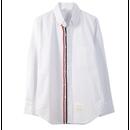 【2色】Stripe Tricolore Patchwork Shirt (縦トリコロールパッチワークシャツ)