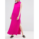 Maxi Shift Dress In Pink (ホットピンク マキシシフトワンピ)