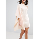 【Back In Stock!!再々入荷】One Shoulder Cape Dress (ワンショルダーケープワンピ)
