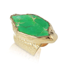 期間限定【SALE!!】¥23,900→18K Light Green Jasper Stone Ring (18金加工 ライトグリーンジャスパーストーンリング)