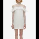 【2色】See-Though Organza Lace Dress (シースルーオーガンジーレースワンピ)