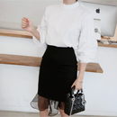 Femminine Tight Skirt Organza Frill (オーガンジーフリル フェミニンスカート)