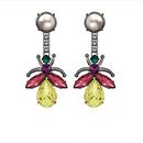 Love Bug Crystal Earrings With Pearl (パール付きクリスタル・バグイヤリング) /MAWI(モウ)