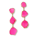 18K Rose  Pink Jasper Stone Drop Earring (18金加工 ローズピンクジャスパーストーンピアス)