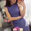 新色【期間限定SALE!!】Sexy Bandage Dress (ブルーパープルセクシーバンデージワンピ )