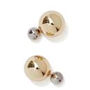 【メール便対応!!】¥2,900→¥980 METALLIC COLORD DOUBLE BALL EARRINGS (メタリックパールダブルボールピアス)