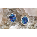 Mosaic opal charm/ring SILVER