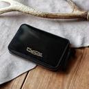 【THE SUPERIOR LABOR 】cordovan zip midlle wallet  -BLACK-