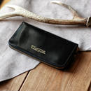 【THE SUPERIOR LABOR 】cordovan zip long wallet  -BLACK-