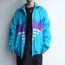 Blue nylon jakect
