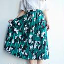 Green pleats  skirt