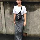 Silver long skirt