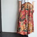 Made in Portugal flower pattern slit skirt