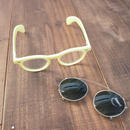Dead stock  Made in France Clip on 2way Sunglasses(yellow)