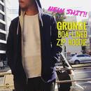 GRUNGE BOA-LINED ZIP HOODIE