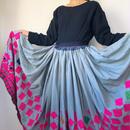 vintage long skirt グレー
