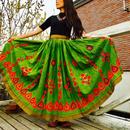 インド・ラジャスタン   アンティーク刺繍ロングスカート