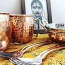 銅のインドカレー食器セット