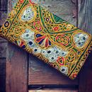 アフガニスタン刺繍  長財布 イエロー