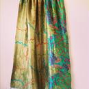 Special kantha silk shawl blue stitch