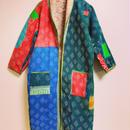 VINTAGE KANTHA KIMONO JACKET multicolored &sakurapink