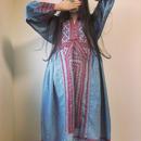 vintage baloch dress ブルーグレー