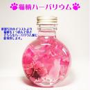 にゃんこハーバリウム 猫柄(彫刻イラスト選べる) 彫刻 ピンク 送料無料 寄付代込